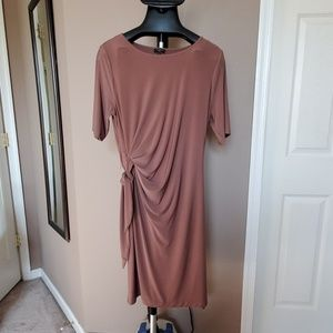 Brown Talbots Jersey Dress with sleeves, Size 16P